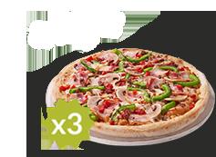 3 Pizzas Familiares por 10€ cada una