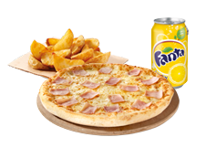 Menú Individual Pizza (2 ingr.) por